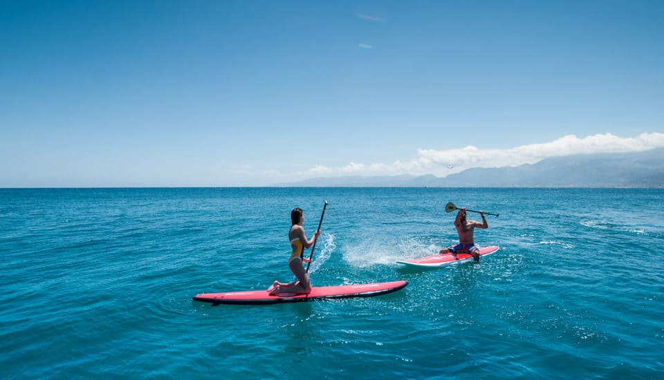 Paddle Surfing Knossos Royal 5-star Knossos Royal Beach Resort in Crete | Book Hotel rooms online